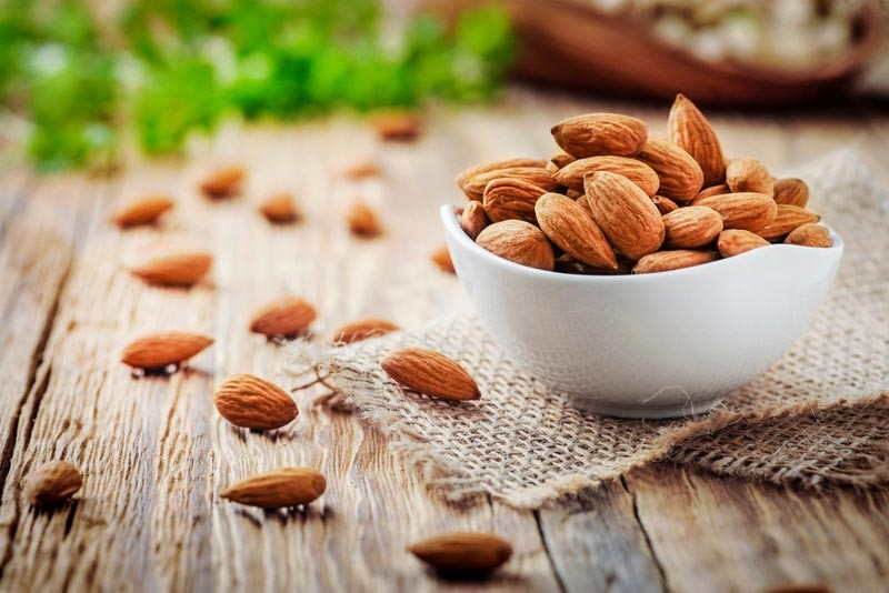 healthy almonds and nuts to add to your snack