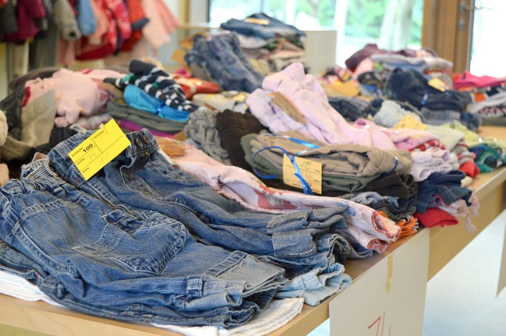 used clothes shop- frugal living tips for moms in 2020