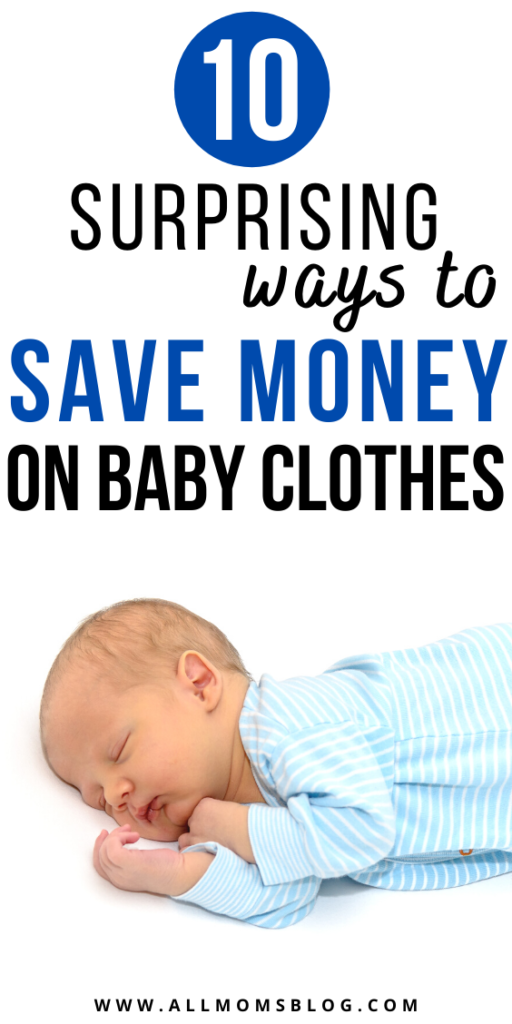 how to save money on baby clothes. save money on babywear.