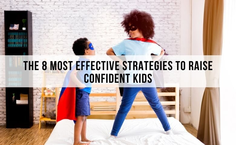 Smart and confident kids playing