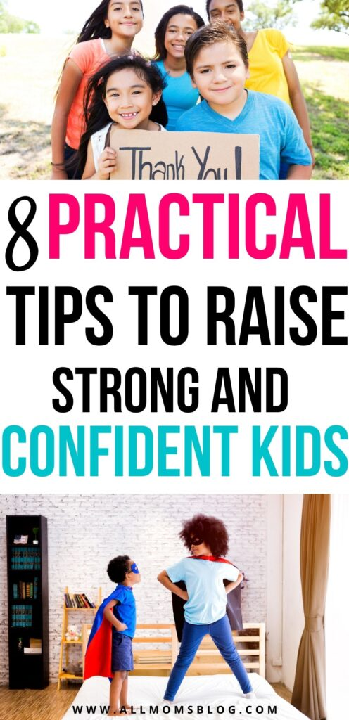 tips to raise smart and confident kids - pin image